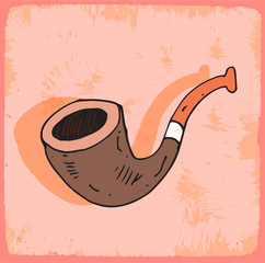Cartoon pipe  illustration