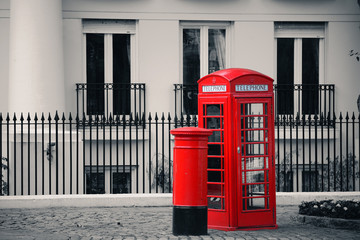 telephone booth and mail box