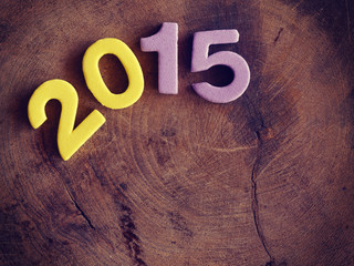 2015 on wood old retro vintage style