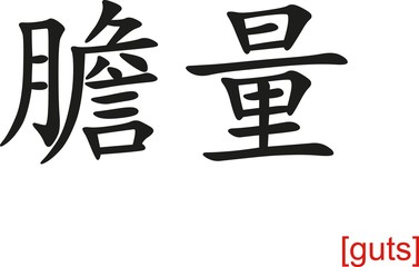 Chinese Sign for guts