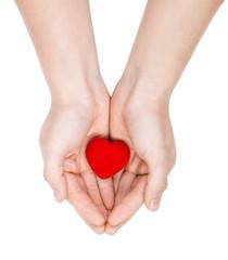 Hands giving a heart