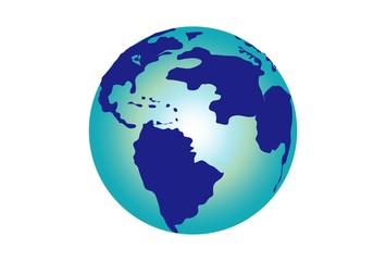 地球の青いイラスト