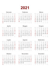 italian calendar