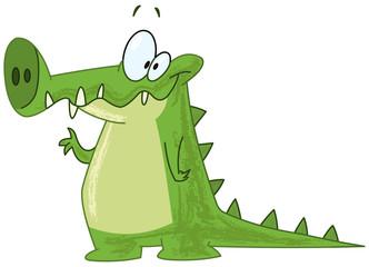 Crocodile waving