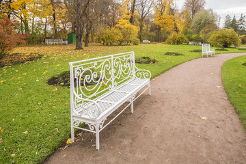 Seat in a park