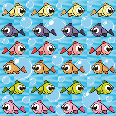 Background with fishes