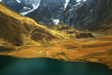 Carhuacocha Laguna in Cordiliera Huayhuash, Peru, South America