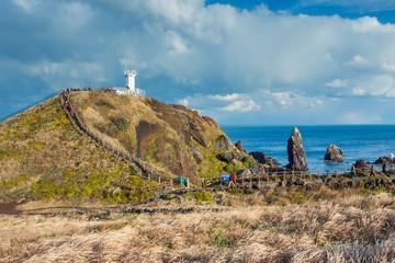 Wall Mural - Lighthouse in Seopjikoji Mount Jeju Island , South Korea