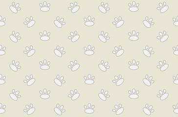 Animal footprint seamless pattern.