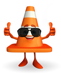 Construction Cone Character with goggle