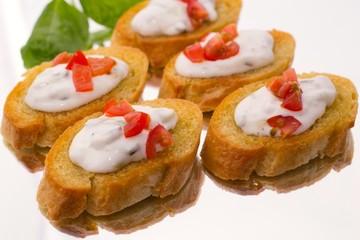 Crostini mit Tzatziki