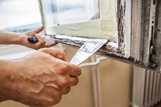 Repairing a window frame