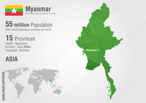 Myanmar world map with a pixel diamond texture burma map stock myanmar world map with a pixel diamond texture burma map gumiabroncs Choice Image