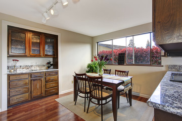 Cozy dining area in kitchen room