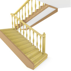 Canvas Prints Stairs Wooden stair