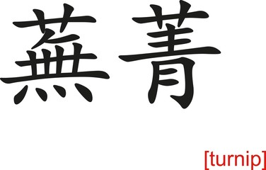 Chinese Sign for turnip