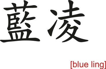Chinese Sign for blue ling