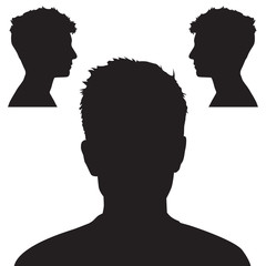 People head silhouette