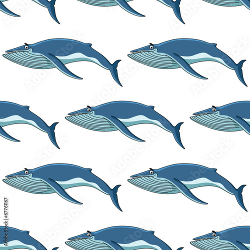 quotseamless background pattern of blue whalesquot stock image