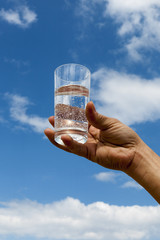 Water glass.