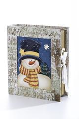 Buchen Sie mit Schneemann -Bild