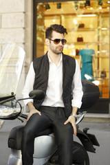Young urban businessman portrait