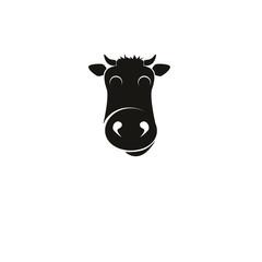 Vector cow emblem