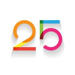 number 25 in flat design