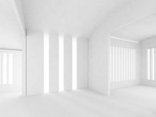 white wall,empty room,3d interior