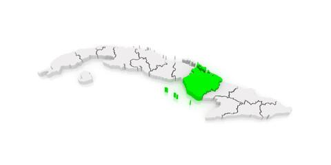 Map of Camaguey. Cuba.
