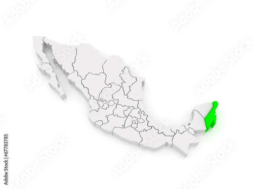 Map Of Quintana Roo Mexico Stock Photo And Royalty Free Images On