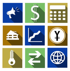Vector set finance icons