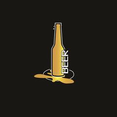 Bottle of gold beer