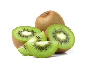 Kiwi fruits slice on white background