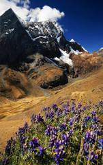 Rondoy Peak in Cordiliera Huayhuash, Peru, South America