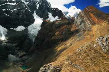 Yerupaja Peak in Cordiliera Huayhuash, Peru, South America