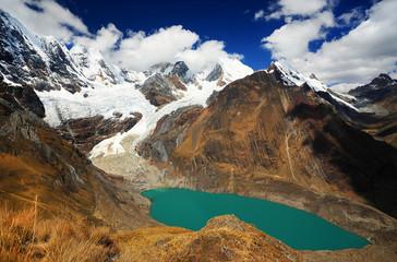 Solteracocha Lake in Cordiliera Huayhuash, Peru, South America