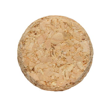 wine cork front isolated on white background