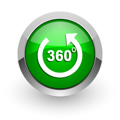 panorama green glossy web icon