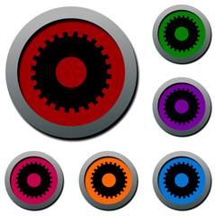 web button / circle frame / speech bubble