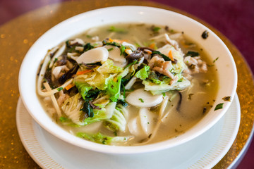 Traditional Shanghai Rice Cake Soup