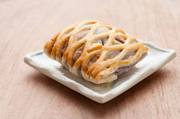 Taro Pie with, relaxing time