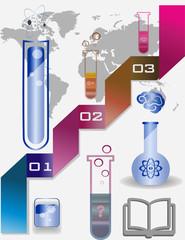 four test tubes and bulbs