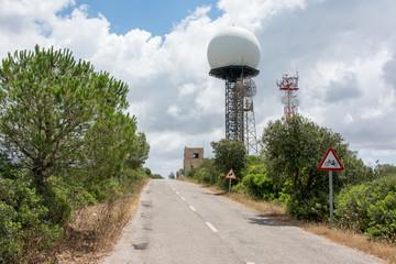 Radar on the island of Majorca