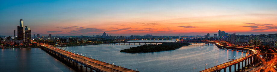 Fotobehang Seoel Seoul Sunset
