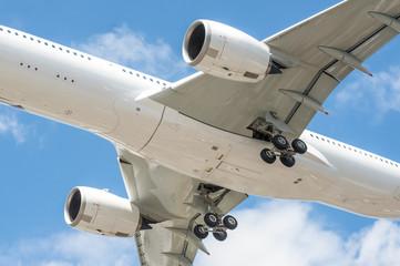 Wall Mural - large aircraft undercarriage closeup - no visible trademarks