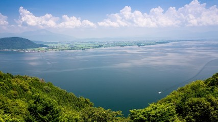 展望台から眺める琵琶湖