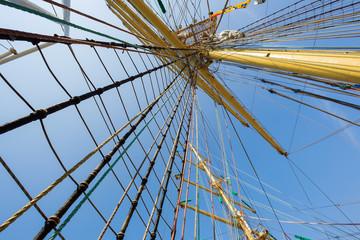Mast of old sailing ship