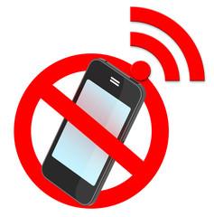 no smartphone traffic sign