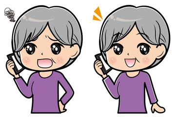 スマホで通話する女性